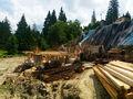 Stadiul lucrarilor pe 27.06.2016 la proiectul imobiliar Cioplea Best View din Predeal. Fundatie plus primul nivel de elevatie. (Fotografia 8)