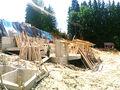 Stadiul lucrarilor pe 27.06.2016 la proiectul imobiliar Cioplea Best View din Predeal. Fundatie plus primul nivel de elevatie. (Fotografia 9)